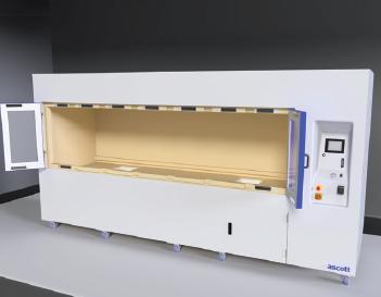 Korózna komora Ascott CorroFlex - vzorky je možné vložiť vysokozdvižným vozíkom